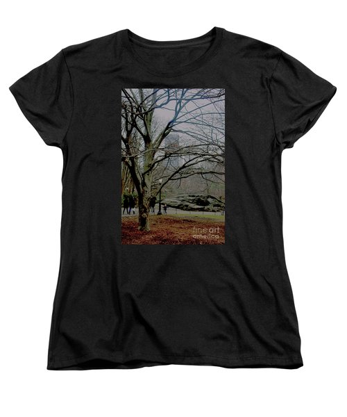 Women's T-Shirt (Standard Cut) featuring the photograph Bare Tree On Walking Path by Sandy Moulder
