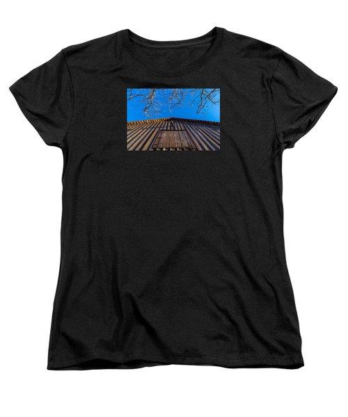 Barn And Trees Women's T-Shirt (Standard Cut) by Derek Dean