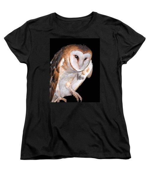 Barn Owl Women's T-Shirt (Standard Cut) by Jean Noren