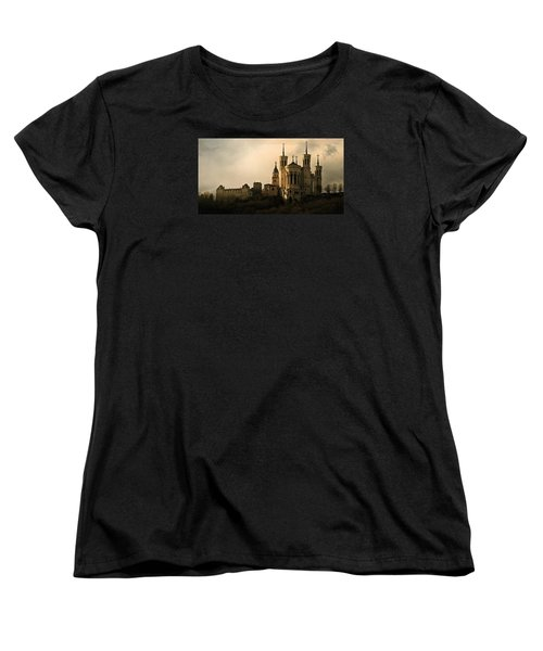 Women's T-Shirt (Standard Cut) featuring the photograph Basilica Of Our Lady Of Fourviere  by Katie Wing Vigil