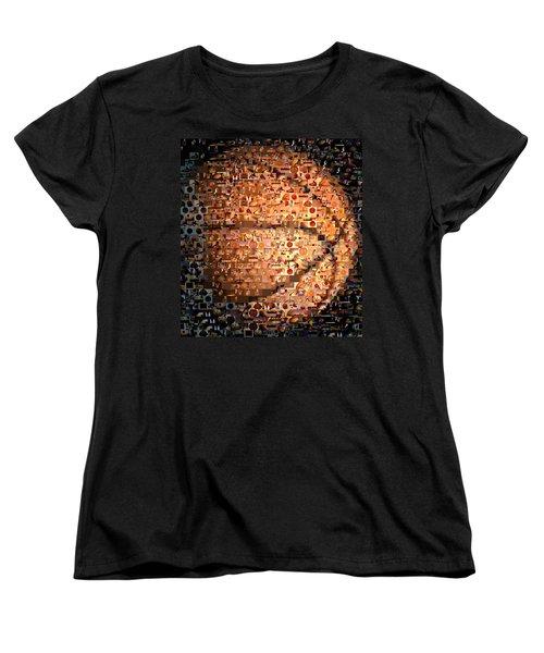 Basketball Mosaic Women's T-Shirt (Standard Cut) by Paul Van Scott