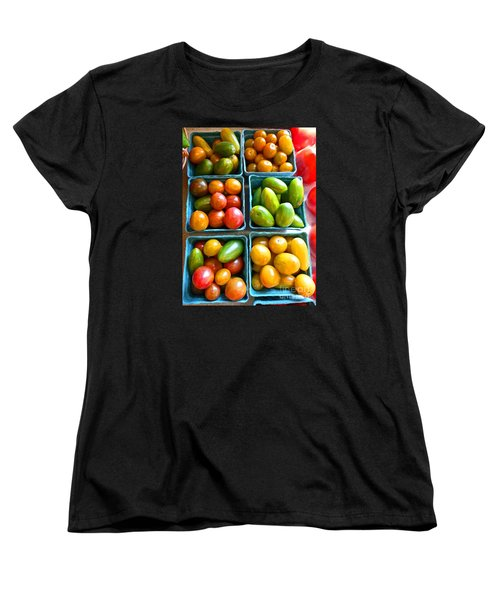 Baskets Of Baby Tomatoes Women's T-Shirt (Standard Cut) by Dee Flouton