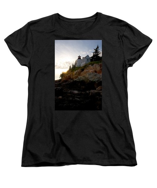 Bass Harbor Lighthouse 1 Women's T-Shirt (Standard Cut) by Brent L Ander