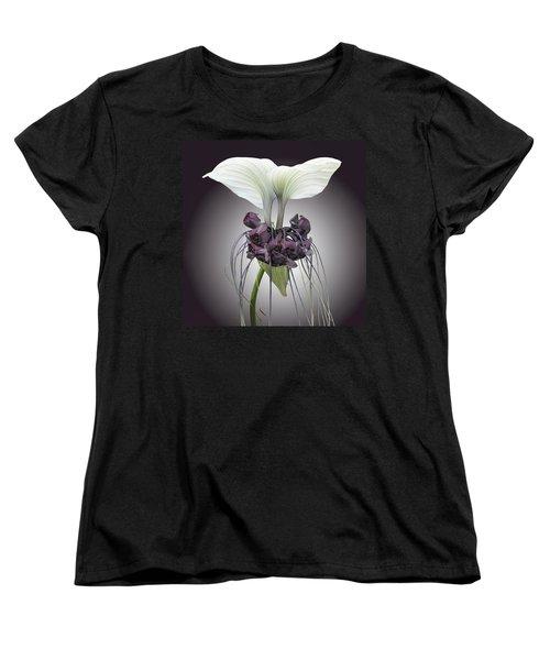 Bat Plant Women's T-Shirt (Standard Cut) by Denise Bird