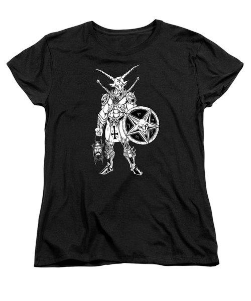 Battle Goat Black Women's T-Shirt (Standard Cut) by Alaric Barca