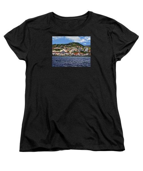 Bay Of Horta Women's T-Shirt (Standard Cut) by Anthony Dezenzio