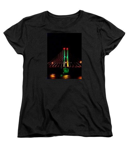 Bay View Christmas Lights Women's T-Shirt (Standard Cut) by Justin Moore
