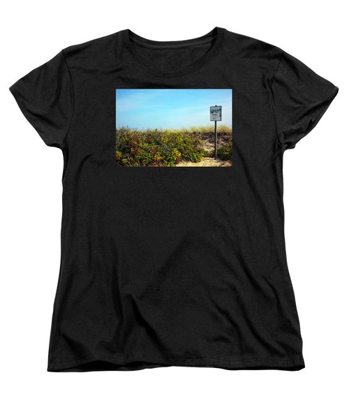 Women's T-Shirt (Standard Cut) featuring the photograph Be Kind To The Dune Plants by Madeline Ellis