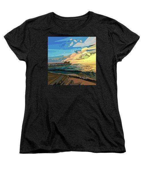 Beach Women's T-Shirt (Standard Cut) by Bekim Art