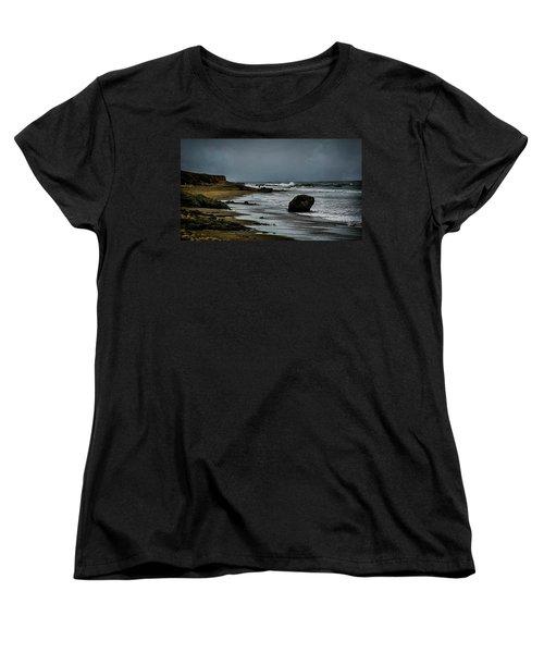 Beach Boulder Women's T-Shirt (Standard Cut) by Joseph Hollingsworth