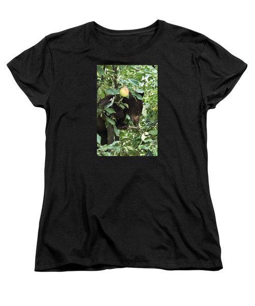 Bear Cub In Apple Tree5 Women's T-Shirt (Standard Cut) by Loni Collins