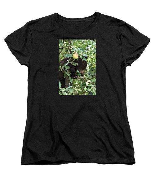 Bear Cub In Apple Tree5 Women's T-Shirt (Standard Cut)