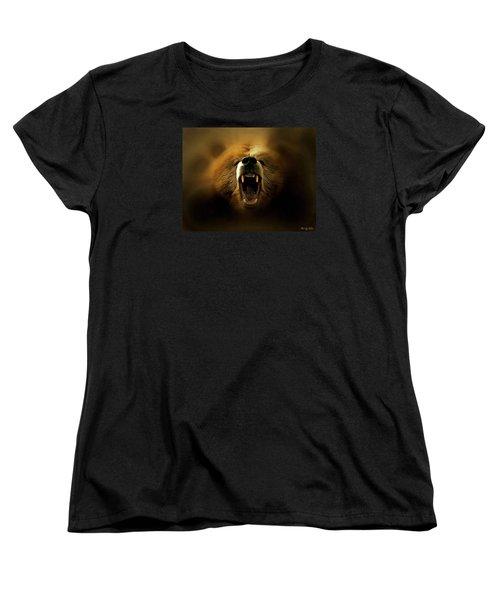 Bear Roar Women's T-Shirt (Standard Cut) by Lilia D