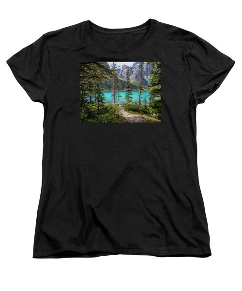 Beautiful Lake Moraine Women's T-Shirt (Standard Cut) by Patricia Hofmeester
