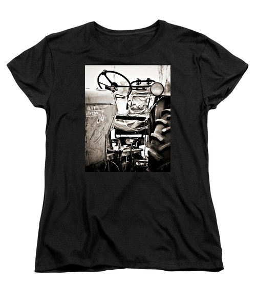 Beautiful Oliver Row Crop Old Tractor Women's T-Shirt (Standard Cut) by Marilyn Hunt
