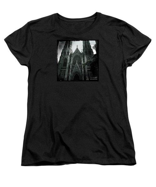 Beautiful St Patricks Cathedral Women's T-Shirt (Standard Cut) by Miriam Danar