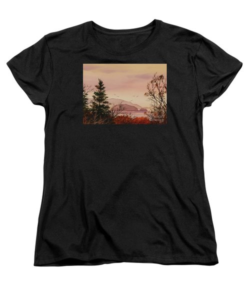 Women's T-Shirt (Standard Cut) featuring the painting Beauty At The Shore by James Williamson