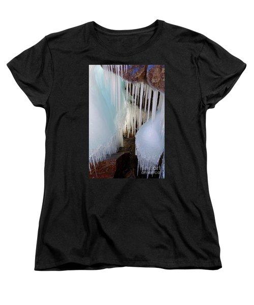 Beauty In The Ice Women's T-Shirt (Standard Cut) by Sandra Updyke