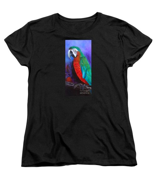 Becky The Macaw Women's T-Shirt (Standard Cut) by Jenny Lee