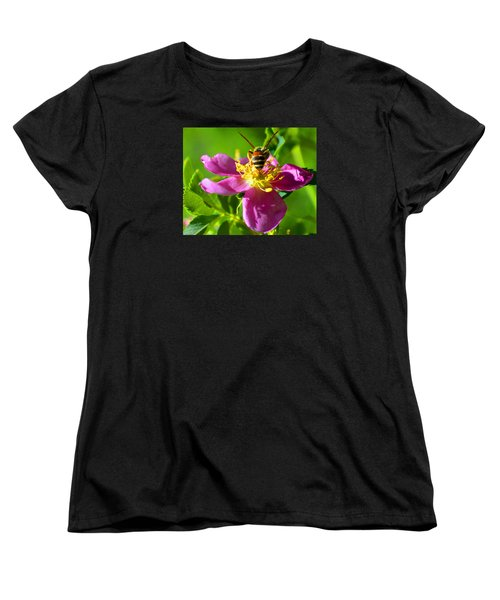 Women's T-Shirt (Standard Cut) featuring the photograph Bee Here Now by Susanne Still