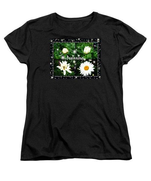 Women's T-Shirt (Standard Cut) featuring the photograph Beginnings  by Cathy  Beharriell