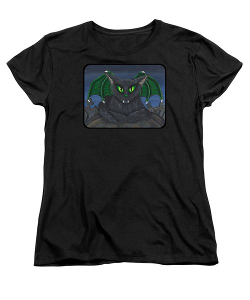 Women's T-Shirt (Standard Cut) featuring the painting Bela Vampire Cat by Carrie Hawks
