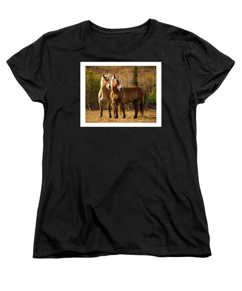 Belgian Draft Horses Women's T-Shirt (Standard Cut) by Sharon Jones