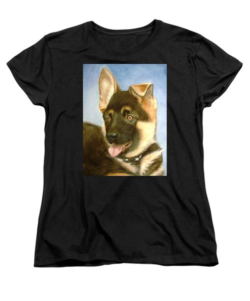 Women's T-Shirt (Standard Cut) featuring the painting Bella by Marilyn Jacobson
