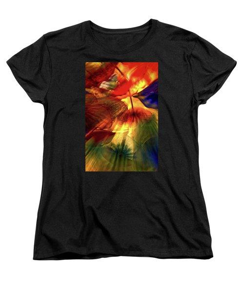 Bellagio Ceiling Sculpture Abstract Women's T-Shirt (Standard Cut) by Stuart Litoff