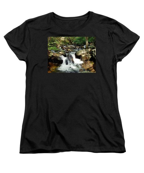 Women's T-Shirt (Standard Cut) featuring the photograph Below Anna Ruby Falls by Jerry Battle