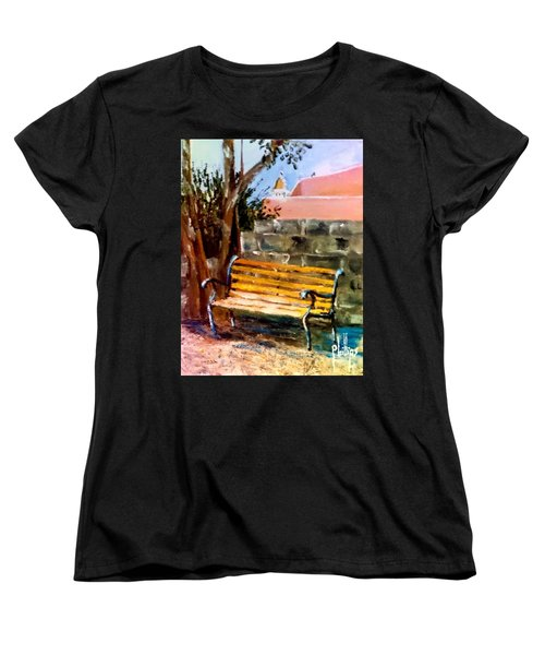 Bench At Waterfront Park Women's T-Shirt (Standard Cut) by Jim Phillips