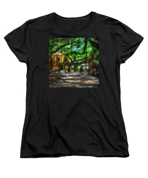 Beneath The Banyan Tree Women's T-Shirt (Standard Cut) by DJ Florek