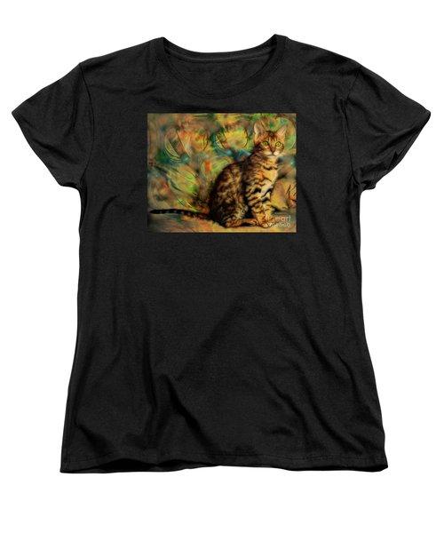 Bengal Kitten Women's T-Shirt (Standard Cut) by John Robert Beck