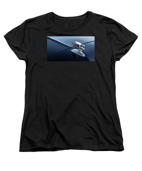 Women's T-Shirt (Standard Cut) featuring the digital art Bentley Flying B by Douglas Pittman