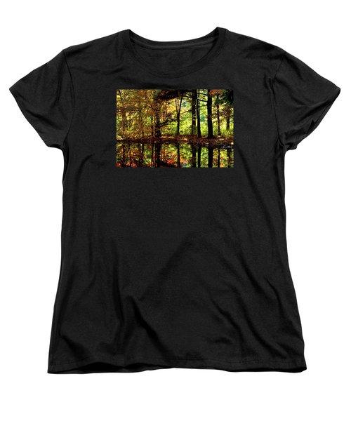 Bernharts Dam Fall 006 Women's T-Shirt (Standard Cut) by Scott McAllister