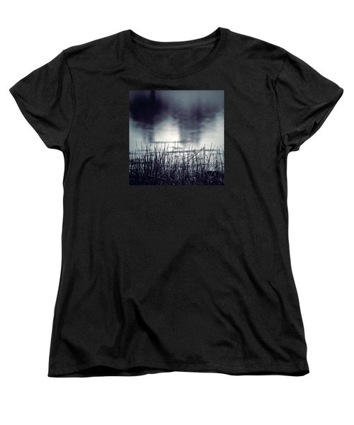 Women's T-Shirt (Standard Cut) featuring the photograph Between The Waters by Trish Mistric