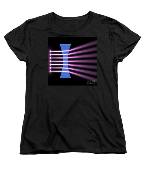 Women's T-Shirt (Standard Cut) featuring the digital art Biconcave Lens 2 by Russell Kightley