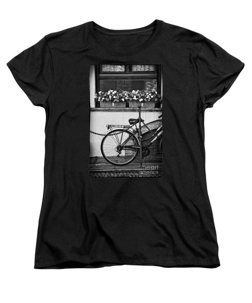 Bicycle With Flowers Women's T-Shirt (Standard Cut)