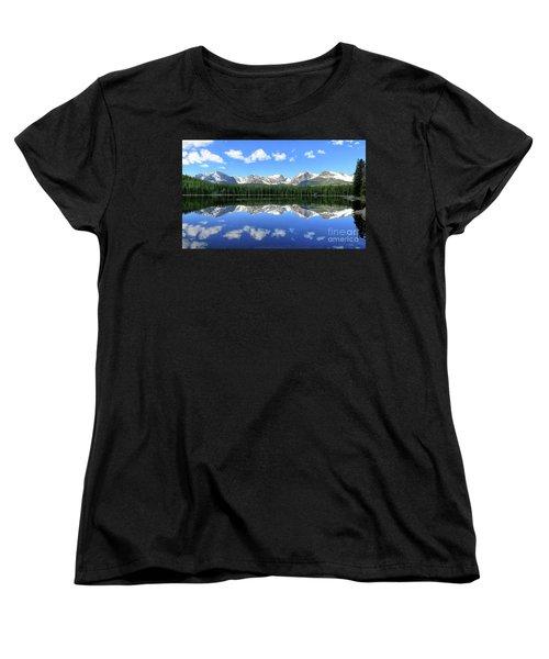 Bierstadt Lake In Rocky Mountain National Park Women's T-Shirt (Standard Cut) by Ronda Kimbrow