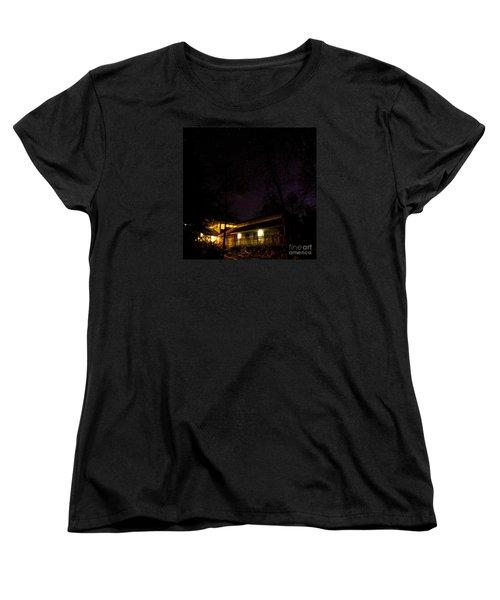 Women's T-Shirt (Standard Cut) featuring the photograph Big Dipper Over Hike Inn by Barbara Bowen
