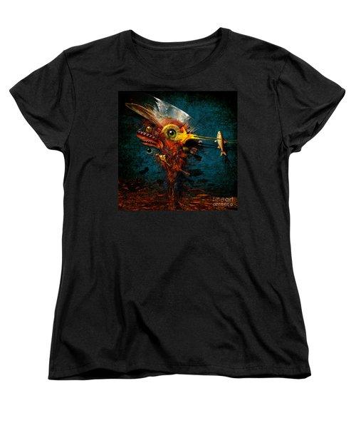 Women's T-Shirt (Standard Cut) featuring the painting Big Hunter by Alexa Szlavics