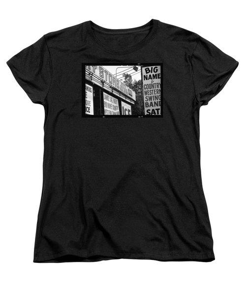 Women's T-Shirt (Standard Cut) featuring the photograph Big Name Big Texas by Carolina Liechtenstein