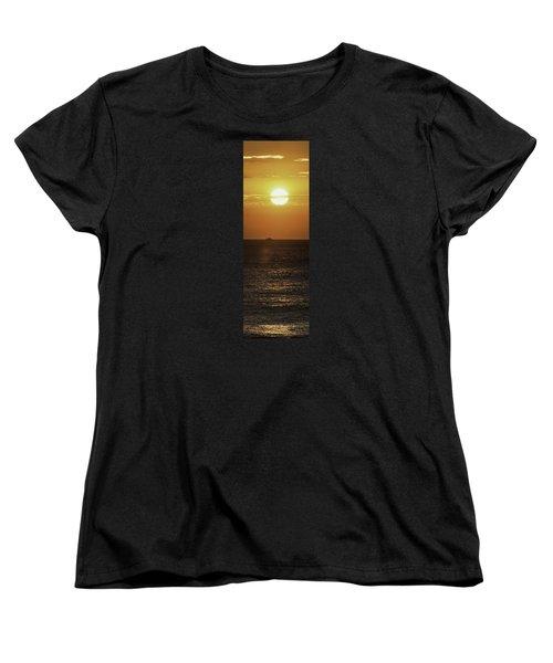 Big Ocean Small Boat Women's T-Shirt (Standard Cut) by Jim Moore