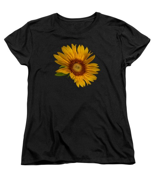 Big Sunflower Women's T-Shirt (Standard Cut) by Debra and Dave Vanderlaan