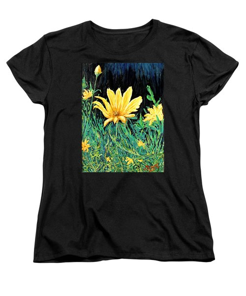 Women's T-Shirt (Standard Cut) featuring the painting Big Yellow by Ian  MacDonald