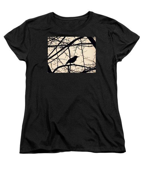 Bird Silhouette Women's T-Shirt (Standard Cut) by Sarah Loft