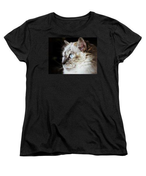 Women's T-Shirt (Standard Cut) featuring the photograph Birdwatching by Karen Stahlros