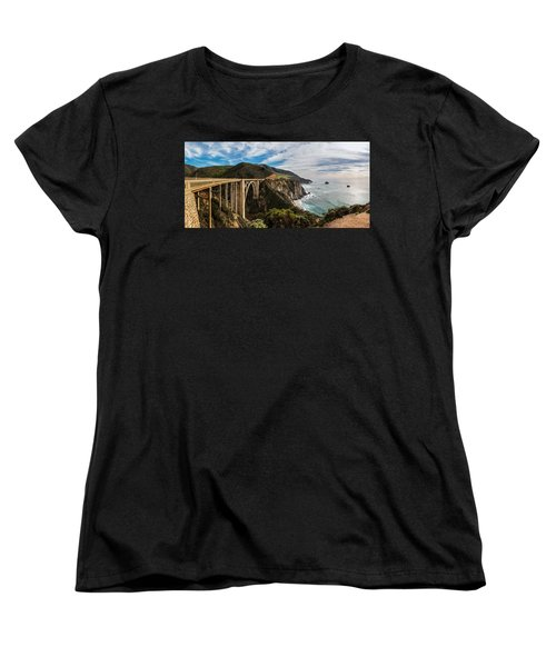 Bixby Creek Bridge Big Sur California  Women's T-Shirt (Standard Cut) by John McGraw
