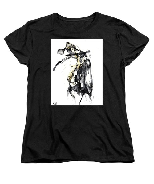 Black And White Abstract Expressionism Series 7344.072009 Women's T-Shirt (Standard Cut) by Kris Haas
