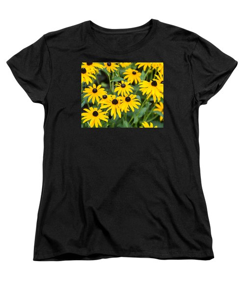 Black-eyed Susan Up Close Women's T-Shirt (Standard Cut) by E Faithe Lester